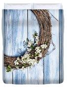 Spring Blossom Wreath Duvet Cover