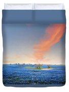 Spring Bluebonnets In Texas Duvet Cover