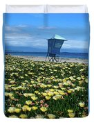 Spring Break Santa Barbara Duvet Cover