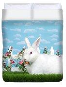 Spring Bunny Loves His Carrots Duvet Cover