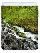 Spring Cascades Duvet Cover by Mike  Dawson