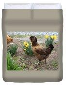 Spring Chicken Duvet Cover