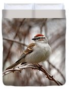 Spring Chipping Sparrow Duvet Cover