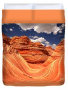 Spring Clouds Over The Wave Duvet Cover