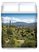 Spring Color In The Desert Duvet Cover