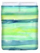 Spring Colors Pattern Horizontal Stripes Duvet Cover