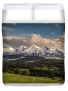 Spring Comes To The High Tatra Mountains In Poland Duvet Cover