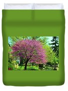 Spring Contrasts At Joslyn Castle Omaha Duvet Cover