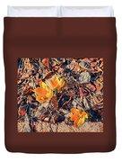 Spring Crocus Flower Duvet Cover