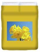 Spring Daffodils Flowers Garden Blue Sky Baslee Troutman Duvet Cover