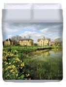 Spring Daffodils, Ramsey Village Pond, Cambridgeshire, England Duvet Cover