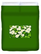 Spring Daisy In The Meadow Duvet Cover
