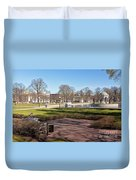 Spring Day At The Park Duvet Cover