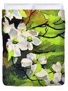 Spring Dogwoods Duvet Cover