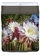 Spring Easter Cactus Blooms 789 Duvet Cover