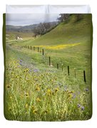 Spring Fenceline Fantasy Duvet Cover