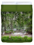 Spring Floodwaters. Altai Duvet Cover