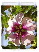 Spring Flower Peeking Out Duvet Cover