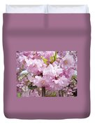 Spring Flowering Trees Art Prints Pink Flower Blossoms Baslee Duvet Cover