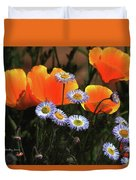 Spring Flowers In Payson Arizona Duvet Cover