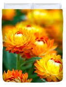 Spring Flowers In The Afternoon Duvet Cover