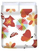 Spring Flowers Pattern Duvet Cover