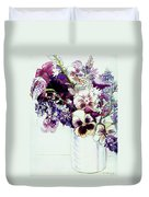 Spring Flowers With Fritillaria  Duvet Cover