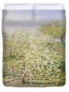 Spring. Fruit Trees In Bloom Duvet Cover