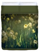 Spring Garden With Narcissus Flowers Duvet Cover