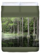 Spring Green In Cypress Swamp Duvet Cover