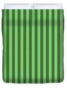 Spring Green Striped Pattern Design Duvet Cover