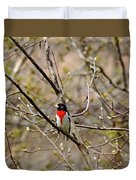Spring Grosbeak Duvet Cover