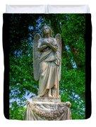 Spring Grove Angel Statue Duvet Cover