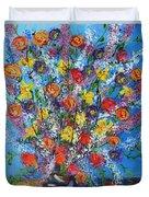 Spring Has Sprung- Abstract Floral Art- Still Life Duvet Cover