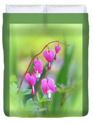 Spring Hearts - Flowers With Vignette 2 Duvet Cover