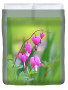 Spring Hearts - Flowers With Vignette Duvet Cover
