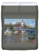 Spring In Lake Shore Duvet Cover