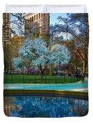 Spring In Madison Square Park Duvet Cover