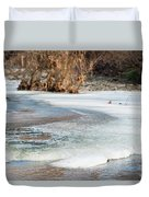 Spring Is Coming. The Ice Melts. Duvet Cover