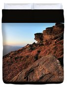 Spring Landscape, Gritstone Rock Formations, Stanage Edge Duvet Cover