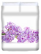 Spring Lilac Flowers Blooming Isolated On White Duvet Cover