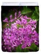 Spring Lilacs On Black Duvet Cover