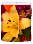 Spring Lily Bouquet Duvet Cover