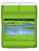 Spring Marsh Grasses Duvet Cover