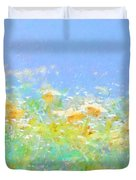 Spring Meadow Abstract Duvet Cover