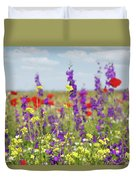 Spring Meadow With Flowers Nature Scene Duvet Cover