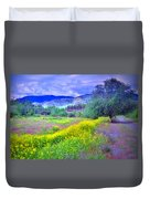 Spring Morning Along The Channel Parkway Duvet Cover