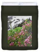 Spring On Mount Rainier Duvet Cover