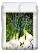 Spring Onions Duvet Cover