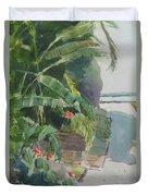 Spring Palms Duvet Cover